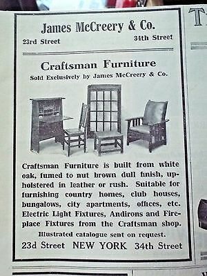 1911 James McCreery & Co CRAFTSMAN FURNITURE ad Country Life in America magazine