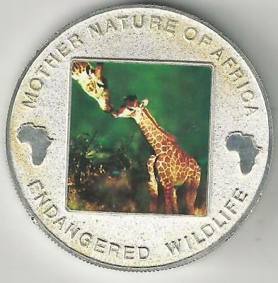 A 2004 SILVER PLATED PROOF 10 KWACHA COIN w/ GIRAFFE from MALAWI..$17.50 CATALOG