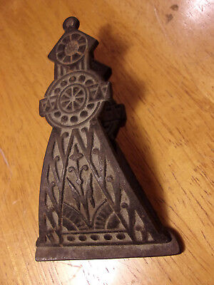Antique Victorian Eastlake Cast Iron Paper Clip/Letter Holder