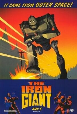 """The Iron Giant (1999) Advance Original Rolled Movie Poster 2-Sided 27"""" X 40"""""""