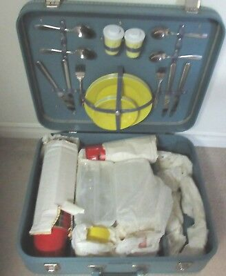 1960's Mid Century Picnic Suitcase by Christie - New w Tags!
