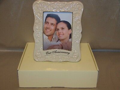 Lenox Portrait Gallery Our Anniversary 5 x 7 Picture Frame New In Open Box