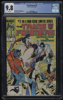 Transformers #2 CGC 9.8 White Pages