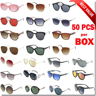 Bulk Lot Wholesale 50 Fashion Sunglasses Eyeglasses Assorted Men Women Styles