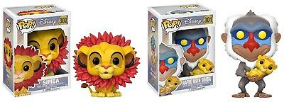 FUNKO POP! DISNEY: THE LION KING - RAFIKI w/ SIMBA 301 & SIMBA 302 (2 PC SET)