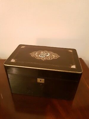 Antique 19th Century French ebonised Tea Caddy