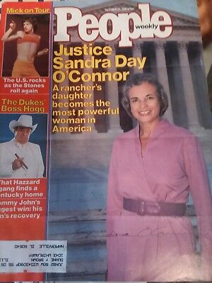 Supreme Court Justice Sandra Day O'connor signed People cover