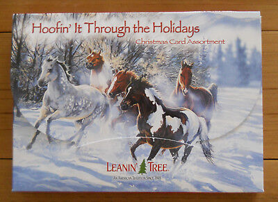 20 Leanin Tree Christmas Cards Hoofin It Through The Holidays Lots Of Horses
