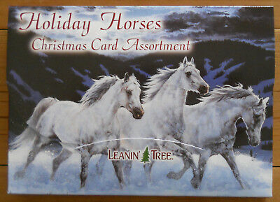 20 Leanin Tree CHRISTMAS Cards, HOLIDAY HORSES, Lots of Horses in the Country