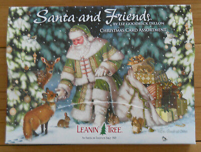 20 leanin tree christmas cards santa and friends polar bear horse fox - National Geographic Christmas Cards