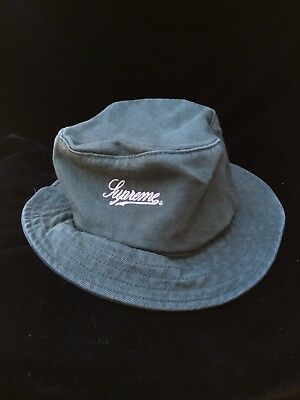 836b4e72540cd Supreme Zip Twill Crusher Bucket Hat - Green -SS18 -New With Tags Dusty Teal