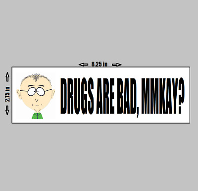 South Park - Mr. Mackey - Teacher Drugs Are Bad Mmkay Quote cartman towelie