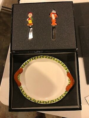Kelloggs One Ceramic Plate With Two Spreader Elf And Tony