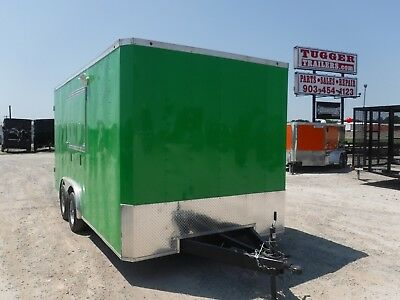 8.5x16 16ft T-Series Concession Stand Food Candy Vending Carnival Fair Trailer!!