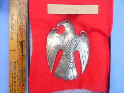 18th Century Trade Gorget Silver Eagle Effigy Pendant Either French Or English