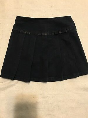 School Uniform Scooter Skirt Pleated Ribbon Bow Navy French Toast Girls 5