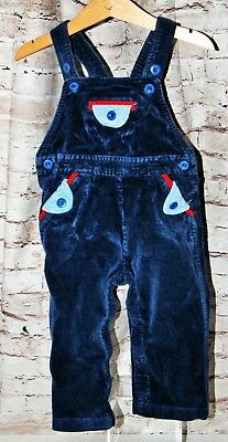 Vintage 1980s Popsicle Corduroy Blue Overalls Baby Size 18 Months