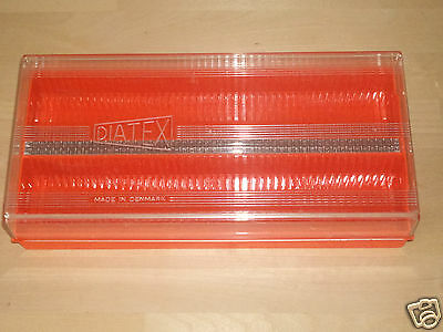 "Vintage DIATEX Plastic CASE for Slides - 2"" 5cm Holds up to 100 Made in Denmark"