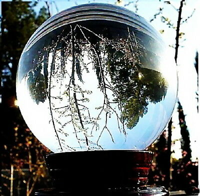 Clear Glass Crystal Ball Healing Sphere Photography Photo Props Gifts 40-200mm