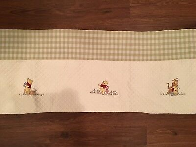Kidsline~ Winnie The Pooh ~Quilted Embroidered Valance Green/Cream Gingham~Nice