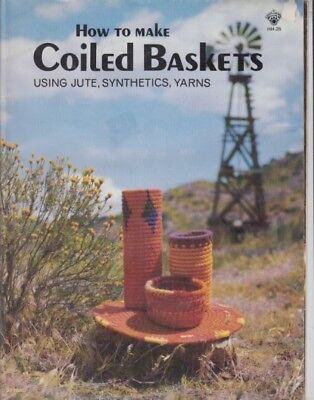 How To Make Coiled Baskets= Using Jute, Synthetics , Yarns
