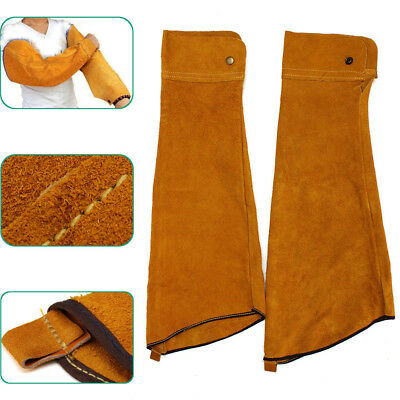 Arm Guard Heat Resistant Durable Button Leather Protective Safe Welding Sleeve