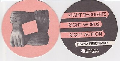 Franz Ferdinand 2 COASTERS Right Thoughts Right Words OFFICIAL PROMO Mint Rare