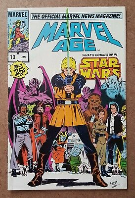 MARVEL AGE #10 Star Wars cover art and feature MARVEL COMICS 1984