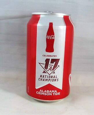 University Of Alabama 17 National Champions Coca-Cola 12 oz. Can FULL UNOPENED