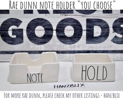 "RAE DUNN NOTE HOLD Note Holder Desk Office Stationery ""YOU CHOOSE"" NEW 2018"