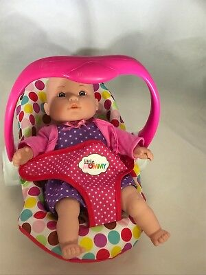 "City Toy 12""Interactive Giggling Baby Doll with Little Mommy Seat (P)"