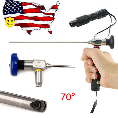 70° Endoscope 4mm X175mm Sinoscope Mirror Arthroscope MINI LED Cold Light Source