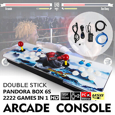 New Pandora Box 6s 2000 in 1 Retro Video Games Double Stick Arcade Console