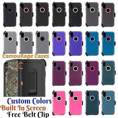For Apple iPhone XS iPhone Case w/ Belt Clip Compatible w/ Otterbox Defender