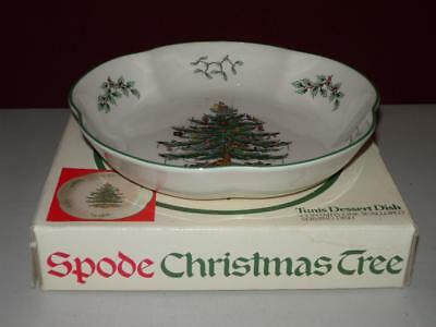 Spode Christmas Tree Tunis Dessert Dish Scalloped 8 1/2""