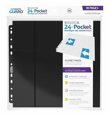 Ultimate Guard 24-Pocket QuadRow Pages Side-Loading Schwarz (10 Seiten)