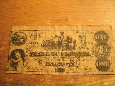 One Dollar State Of Florida Note