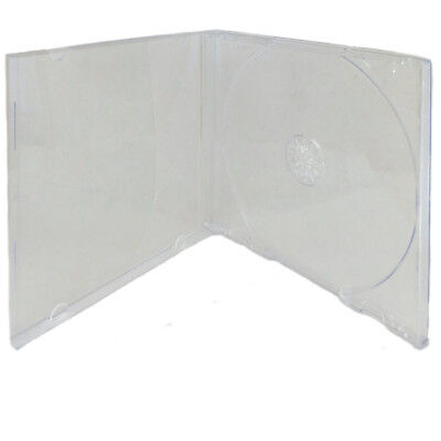 5 Pack Single Standard Clear CD DVD Jewel Case Assembled 10.4mm [FREE SHIPPING]