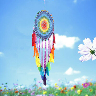 Vintage Colorful Handmade Dream Catcher Feather Wall Car Hanging Decoration 2018