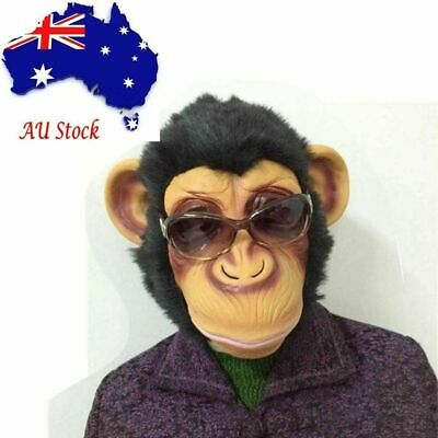 AU Cosplay Party Scary Monkey Mask Funny Adult Animal Costume Head Halloween