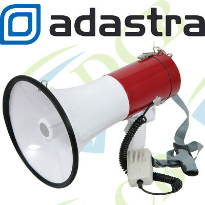 Adastra Megaphone 30w Powerful Loud Speaker with Siren - Handheld/Shoulder Strap