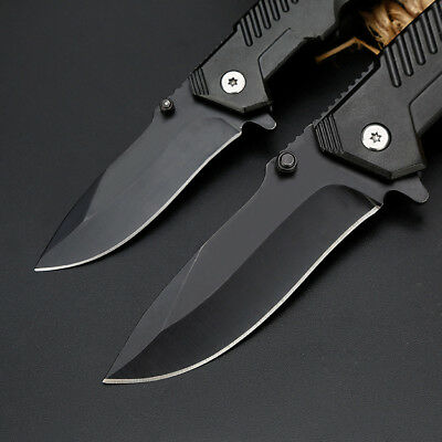"6"" 8"" Tactical Spring Assisted Folding Knife Blade Pocket Assist Open EDC"