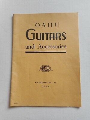 1939 Oahu Guitars And Accessories Catalog Catalog No. 23 1939 36 Pages