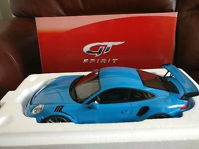 Gt Spirit Gts Porsche 911 Gt3 Rs Riviera Blue (991) Resin Model 1/18 Le 2000 Pcs