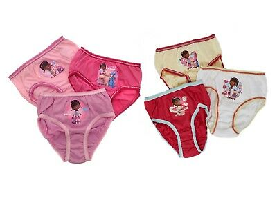 Disney Doc McStuffins Knickers Briefs Girls Gift Set of 3 Childrens Size UK 1-5