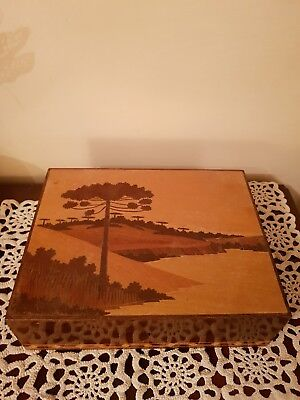 Vintage Wooden Marquetry Box