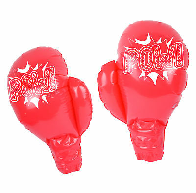 Inflatable Boxing Gloves - Novelty Joke Kids Prize Prop Blow Up Party Photo