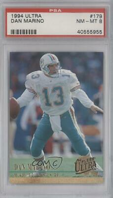 1994 Fleer Ultra #179 Dan Marino PSA 8 NM-MT Miami Dolphins Football Card