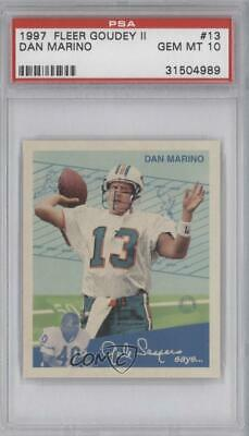 1997 Fleer Goudey II #13 Dan Marino PSA 10 GEM MT Miami Dolphins Football Card