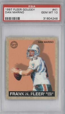 1997 Fleer Goudey #41 Dan Marino PSA 10 GEM MT Miami Dolphins Football Card